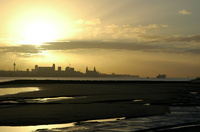 Sunrise over the River Mersey