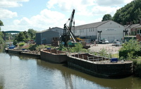 Barges on the River Weaver at Northwich
