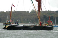 Alice Thames Sailing Barge at Cowes