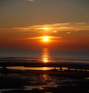 Sunset over Blackpool Beach