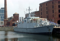 HMS Ramsey visits Albert Dock Liverpool