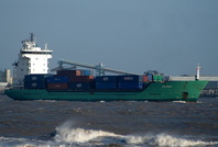 Meriwa    IMO 9141106 5006gt Built 1996 Container Ship Flag Antigua Barbuda