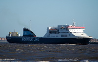 Liverpool Viking  IMO 9136034 21856gt Built 1997 Passenger/Ro Ro Cargo Ship Flag UK
