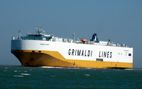 Grande Detroit  IMO 9293272 38651gt Built 2005 Vehicles Carrier Flag Italy Grimaldi Lines