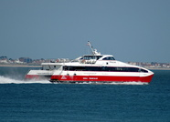 Red Jet 4 passing Calshot