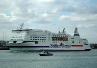 Mont St Michel IMO 9238337 35586gt Built 2002 Passenger/Ro Ro Cargo Ship Flag France at Portsmouth