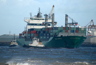 CSCL Napoli  IMO 9236042 30024gt Built 2002 Container Ship Flag Antigua Barbuda