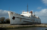 Duke of Lancaster at Llanerch-y-Mor near Mostyn North Wales