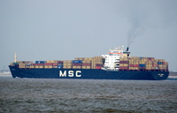 MSC Serena   IMO 7502904 38991gt Built 1977 Container Ship Flag Panama ex Zim Eilat