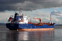 Solway Fisher  IMO 9320491 3501gt Built 2006 Oil Products Tanker Flag Bahamas