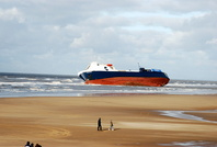 Riverdance beached at Blackpool