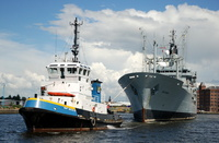 RFA Gold Rover and Smit Waterloo