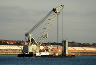 Mersey Mammouth IMO 8521672 1793gt Built 1986 Floating Crane Flag UK
