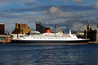 Queen Elizabeth 2 at Liverpool Pier Head Cruise Terminal