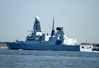 HMS Daring departing the Mersey 25/5/09