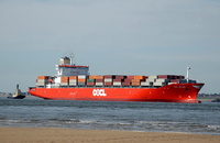 OOCL Belgium IMO 9169419 39174gt Built 1998 Container Ship Flag Hong Kong
