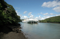 UECC Car Carriers laid up on the River Fal near King Harry Ferry
