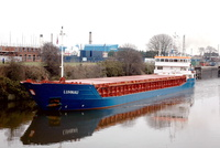 Luhnau IMO 9213595 2452gt Built 2006 departing Latchford Locks on the Manchester Ship Canal 26th January 2010