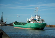 Arklow Star about to berth at Ellesmere Port