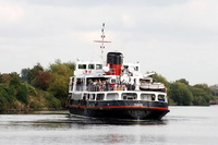 Snowdrop departs Latchford Locks on the Manchester Ship Canal Cruise