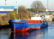 Gina D on the Manchester Ship Canal