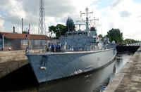 HMS Middleton on the Manchester Ship Canal