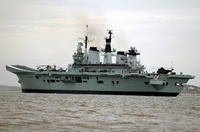 HMS Illustrious departs the Mersey
