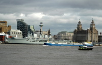 HMS Illustrious with LPG Tanker Thresher and Police launch Consortium