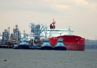 Urals Star  IMO 9309435 63619gt Built 2006 Crude Oil Tanker Flag Liberia at Fawley Oil Terminal