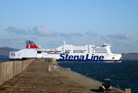 Stena Adventurer passing Holyhead breakwater 3rd January 2010