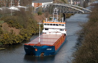 Suderau IMO 9313682 2461gt Built 2005 General Cargo Ship at Knutsford Road Swing Bridge