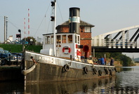 Steam Tug Kerne at Acton Bridge River Weaver 8/10/07