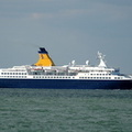 Saga Pearl ll passing the Isle of Wight