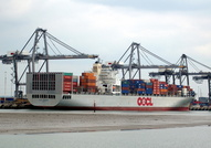 OOCL Germany at Southampton Container Port