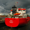 First time visit on the Manchester Ship Canal for Spanish Flagged General Cargo Vessel Muros 9/8/2010