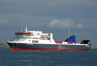 Dublin Seaways arriving for Twelve Quays