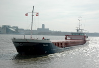 Daan IMO 9201956 2080gt Built 2001 General Cargo Ship awaiting Alfred Locks