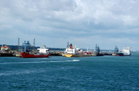Tankers Liquid Velvet Basuto and Evinco at Fawley