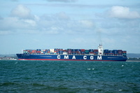 CMA CGM Callisto IMO 9410753 131332gt Built 2010 Container Ship passing Ryde