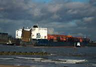 Atlantic Cartier IMO 8215481 58358gt Built 1985 Container Ro Ro Cargo Ship