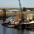 5 vessels at Frodsham Quay Loach, Seaport Alpha and Kennet with Panary and James Jackson Grundy at the rear