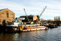 All 5 vessels at Frodsham Quay