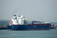 Cavatina IMO 9343209 26751gt Built 2009 Chemical/Oil Products Tanker alongside Esso Berth 3 Fawley