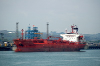 Holmen IMO 9330771 11729gt Built 2006 Chemical Tanker alongside Esso Berth 4 Fawley