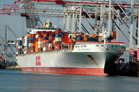 OOCL Long Beach IMO 9243409 89097gt Built 2003 Container Ship