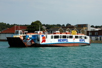 Cowes Floating Bridge with new Hempel Logo