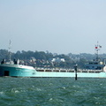 Ingrid IMO 8906353 departing Cowes