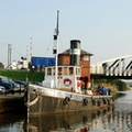 Steam Tug Kerne at Acton Bridge River Weaver