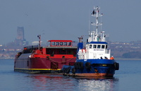 Tug East with Terra Marique at Eastham
