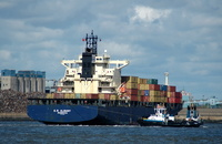 E R Albany IMO 9116369 30280gt Built 1996 Container Ship